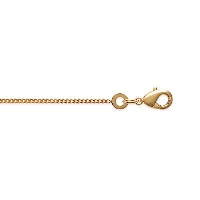 Chaîne dorée à l'or fin 10/000 taille 45 cm