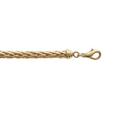 Bracelet plaqué or 750 3 microns longueur 19 cm