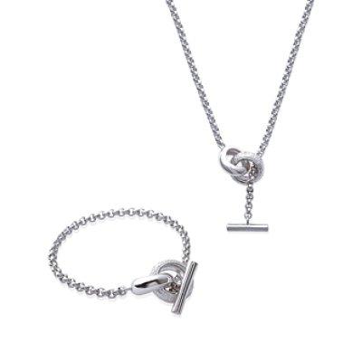 Bracelet argent massif 925 rhodié et oxyde de zirconium longueur 18 cm